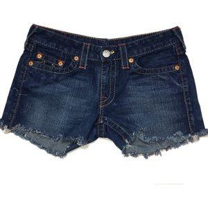 True Religion Bobby diy cut off shorts sz 30